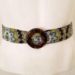 Vera Bradley Reversible Blue Green Paisley Belt